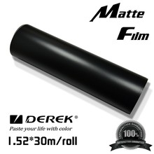 PVC material black matte hot sale colored car wrap vinyl