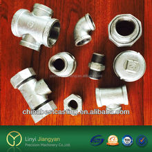 OEM Hot dipped galvanized iron pipe fittings and ductile iron casting