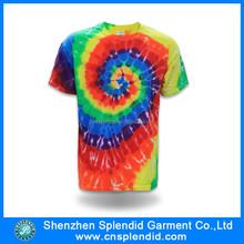 custom men fashion tie dye tee shirts made in China