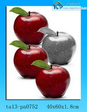 Canvas Apple fruit painting for decor