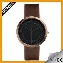 Luxury 316L stainless steel mens ODM black rose golden watch