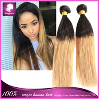Fashion! Hot Sale Grade 7A human hair #1b Black Color Bouncy Curly Funmi Hair Mongolian virgin hair weft