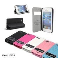 Kaku professional flip wallet leather case for iphone 5 5s made in china