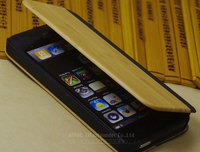 Genuine leather for iphone 5c cases,leather bamboo wood case for iPhone 5s