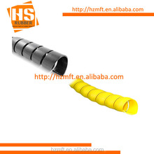 Smooth surface YELLOW PP+PE SPIRAL CABLE WRAP for rubber hose