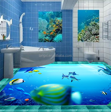 3D underwater world building materials ceramic tiles heated worldwide showing the religious people