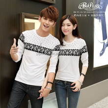 Peijiaxin Hot Selling Fashion Printed Wholesale Love Couple T-shirt Design