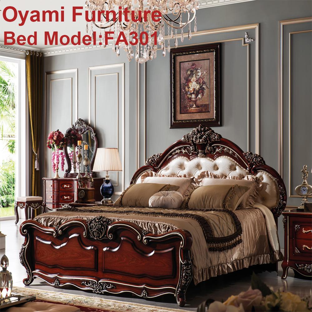 Antiken luxus europäischen rokoko bett barock französisch provinz ...
