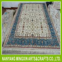 4x6ft oriental persian rug vintage handmade hand knotted pure silk floor carpet