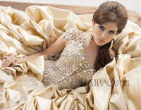 Luxury Saudi Arab Style Wedding Gown with Crystal Beaded Middle East Ball Gown Wedding Dresses