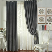 100% polyester fabric Grommet Top Hotel Blackout Curtain