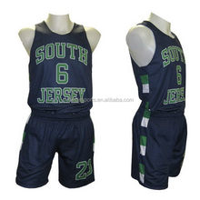 Customized promotional double face basketball uniform