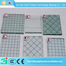 2015 China Excellent safe Hot sale Clear wired glass