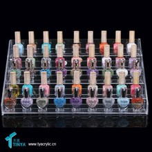 Top Selling Products 2015 Clear Acrylic 5 Tiers Nail Polish Display Rack