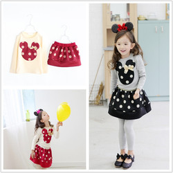 2015 Boutique Outfits Children Clothes Baby Top With Skirt Set