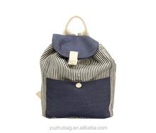 Canvas vintage college school backpack bags