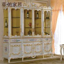 Francés provincial sala de muebles mobiliario - tallado a mano cellaret madera maciza