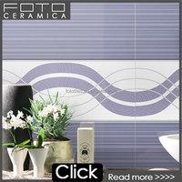3d wall paper design purple color inkjet glazed ceramic wall tile 250x600