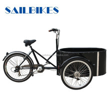 italian popular bikes electric round cargo tricycles with pedals