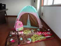 kid set (tent, sleeping bag and backpack)