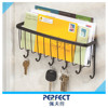 Entacnce wall letter rack with key hook