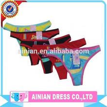 China Manufacture 2~16 Sexy Young Girls Thong Kids Girls Underwear Cheap Children G-string