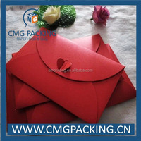 Red foldable paper envelope
