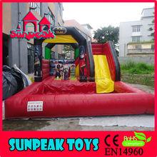 WL-1849 Cute Spiderman Inflatable Water Slide