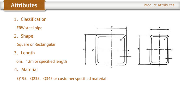 Hollow structural sections dimensions and section
