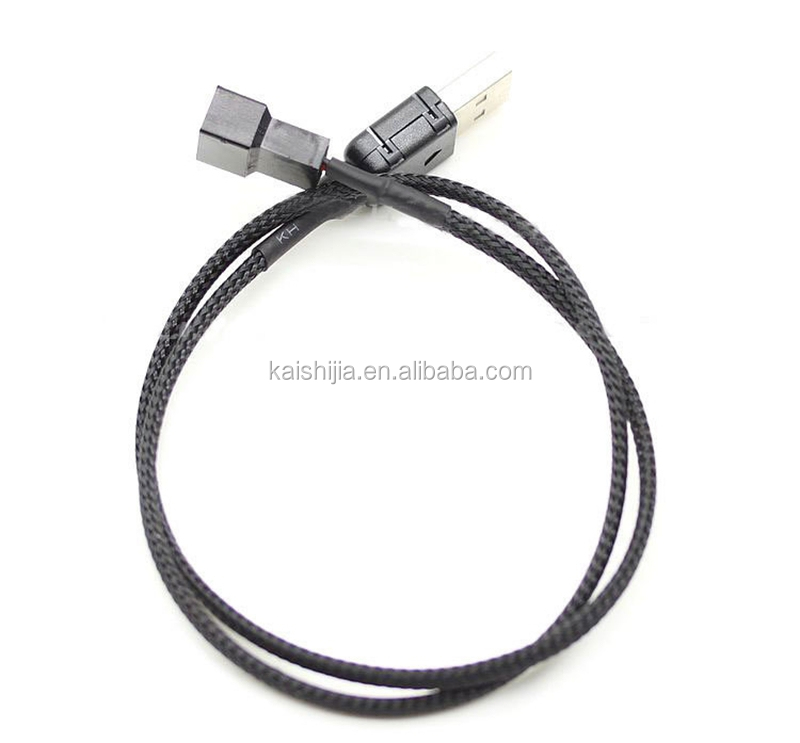 customized design usb to fan 3 pin  4 pin adapter cable