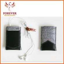 New Products Leather Felt Custom Phone Case Wholesale