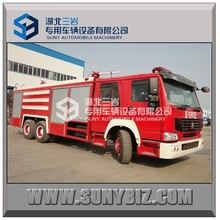 New 10 wheeler 6*4 howo fire truck , fire fighting truck, fire truck for sale