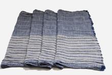 Wholesale newest fashion blue striped cotton neck scarf