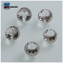 Fashion clear drum shaped glass beads high quality transparent crystal beads