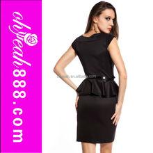 Venta al por mayor de las nuevas mujeres patrones negro atractivo del club del vestido con mini skirt sexi