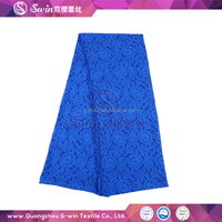 Fashion Floral Design Diamond Blue Jacquard Style Wholesale Nylon and Spandex Lingerie Stretch Lace Fabric for lady dress