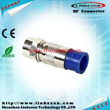 F type rg6 compression f connector