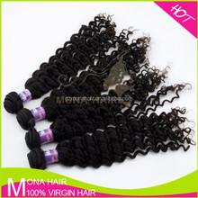 Private label deep wave malaysian hair 100% raw unprocessed virgin human hair