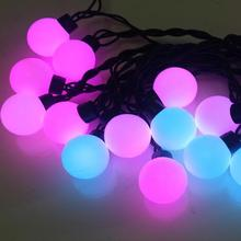 Connectable waterproof LED Ball string RGB Color