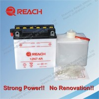 ISO Certificate High Quality Standard Dry Charged Lead Acid Rechargeable Motorcycle Battery