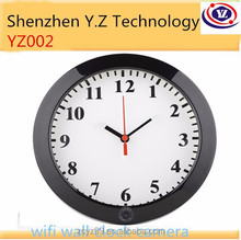 2015 year 1.0 megapixel hd network wifi wall clock with ap function hidden outdoor ip camera for fight against terrorism