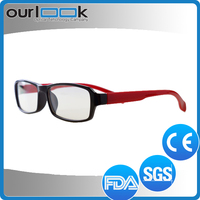2015 Good Quality Fancy Style Anti Blue Ray Twisty Folding Plastic Reading Glasses