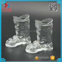 2016 Cute 50ml unique boots shaped red wine glass bottles for sale