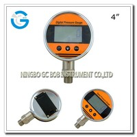 High quality 4 inch stainless steel digital water pressure gauge with bottom mounting