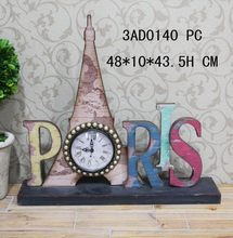 Bottom price useful eiffel tower travelling car decoration clock