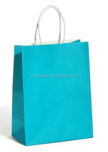 solid color shopping gift factory cheap wholesale kraft paper bag