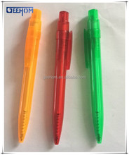 simple promotional ballpoint pen with logo, cheap custom ball pen plastic