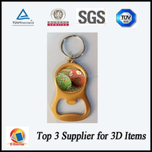 3D key chain printing lenticular bottle opener best selling customized
