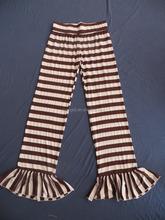 100% Cotton Women Colorful Ruffle Long Pants With The 7CM Waist Belt QL-85