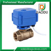 yuhuan manufacturer npt female threaded forged 1/2 or 3/4 inch brass dn20 12v 2 way motorized ball valve